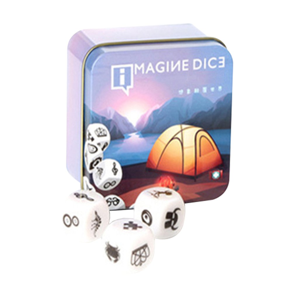 New Telling Story Dice Game Story Metal Box/Bag English Instructions Family Twisty Puzzle Brain Teaser Story Cubes Toys