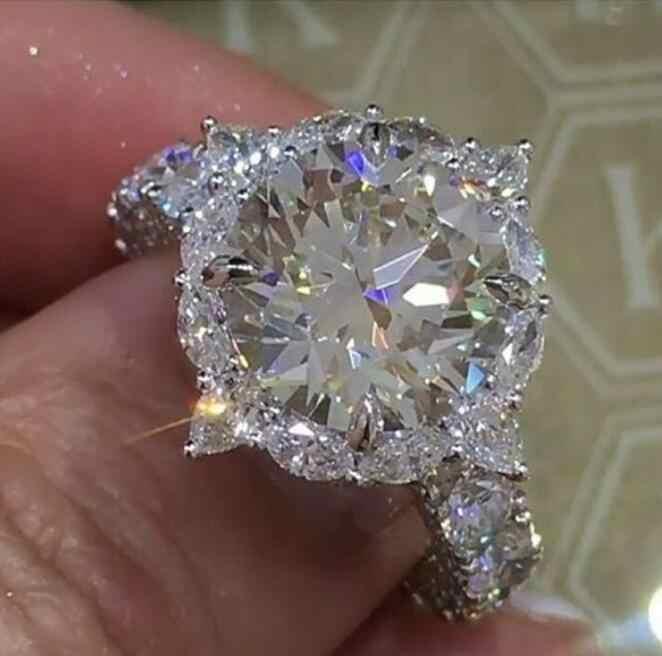 Zircon Lady แหวนมรกตแหวน 2 ชิ้นชุดสตรีแหวนคริสตัลแฟชั่นเครื่องประดับงานแต่งงานแหวนของขวัญ Party สำหรับสาว