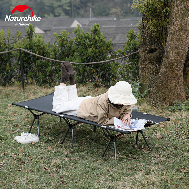 Naturehike Outdoor Camping Cot Sturdy Comfortable Portable Folding Tent Bed Indoor Siesta Bed Sleeping Relaxing