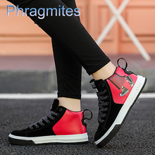 Phragmites PU Leather Autumn Boots 2019 New Men Boots Ankle Rubber Combat Boots Men Sneakers Casual Shoes Fashion Botas Hombre стоимость