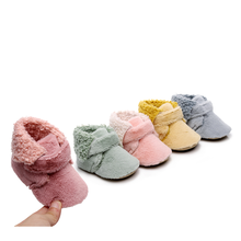 Ankle-Boots Baby Shoes Girls Winter Kids Plush for Short Children Fur Warm Babies