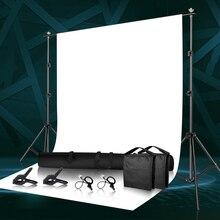 Fondo fotográfico Kit de sistema de soporte de fondo con abrazadera, bolsa de transporte para estudio fotográfico Youtube Tiktok fotografía telones de fondo