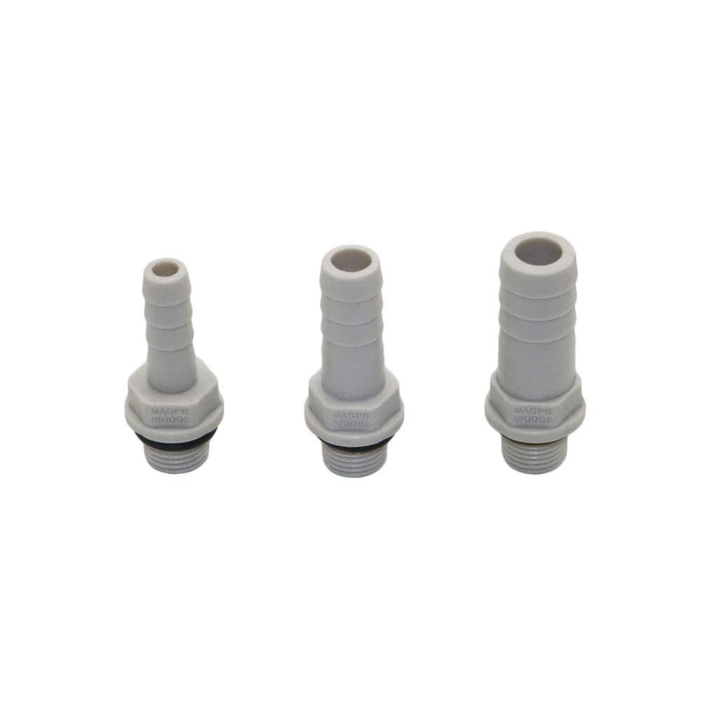"3//8/"" 10mm Plastic Straight Union Bulkhead Fitting Hose Barb Connector Pipe Tube"