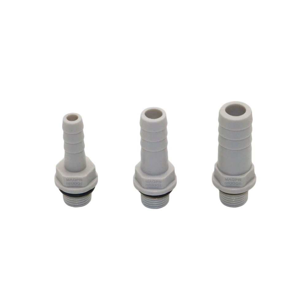 Plastic Straight Hose Pipe Fittings 1/8
