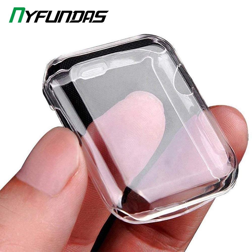 Защитный чехол для iWatch Apple Watch Series 5 4 3 2 1 38 40 42 44 мм 40 мм 42 мм 38 мм 44 мм, защитные аксессуары для экрана
