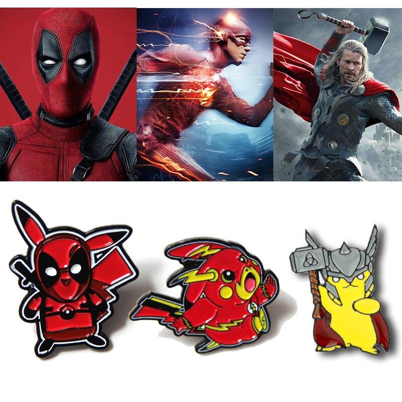 cartoon-font-b-pokemon-b-font-go-pin-badge-pikachu-deadpool-cosplay-props-brooch-thor-the-flash