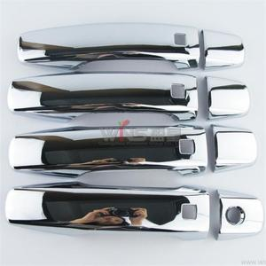 Image 1 - Chrom Türgriff Abdeckung Mit loch ABS Spiegel Oberfläche Auto Styling Zubehör Für Toyota Land Cruiser 200 2008 2011 2012 2015