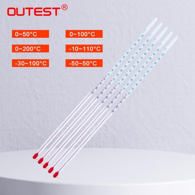 אלכוהול אדום נוזל זכוכית מדחום אדום מים מדחום זכוכית מדחום מוט בר שולחן טמפרטורת מים מטר