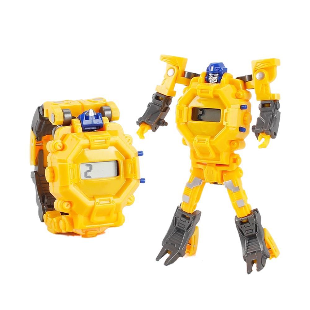 Cartoon Transformation Wristwatch Toy Creative Electronic Robot Watch For Boy Children Deform Robot Sport Watch Toy Gift