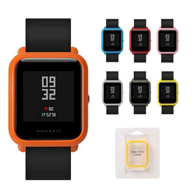 smart watch stylish Frame PC Case Cover Protect Shell For Xiaomi Huami Amazfit Bip Younth Watch fashion Case Cover Slim Colors