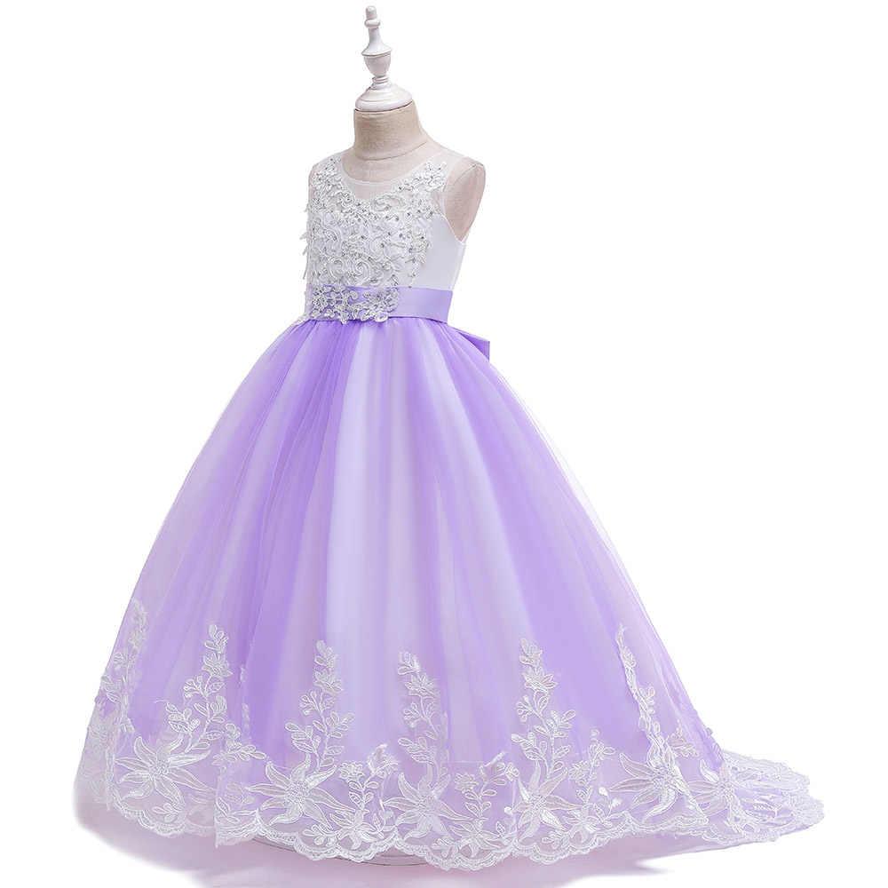 ผลกำไรในรอบงานแต่งงานลูกไม้ชุดเจ้าสาวเด็กชุดเด็กหญิงชุดเจ้าหญิงยาว Vestido ชุด LP-231