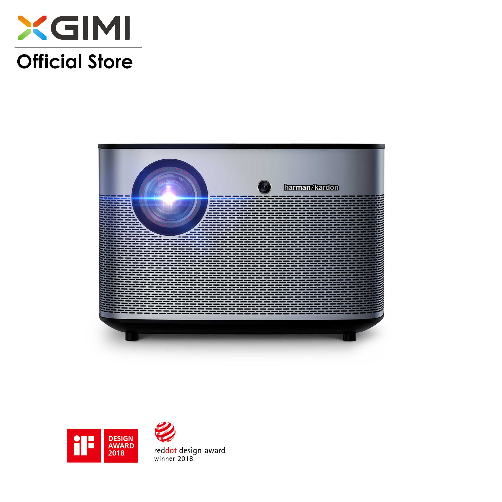 Original XGIMI H2 proyector 1350 lúmenes ANSI 1080p LED DLP 3D Video Android Wifi Bluetooth Smart teatro HDMI 4K Beamer