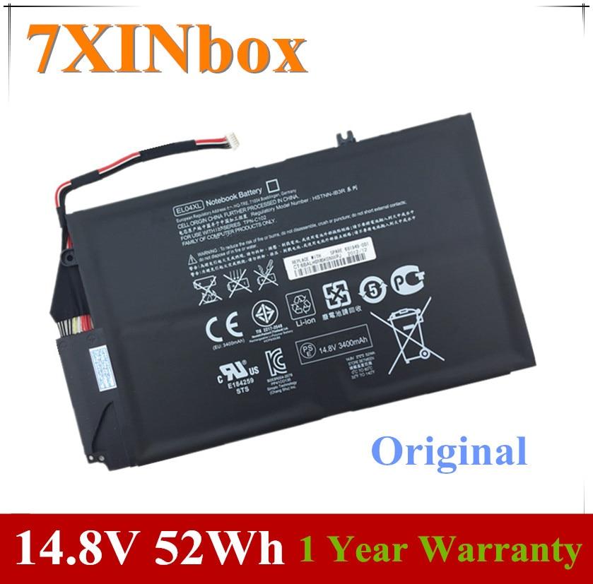 7XINbox 14.8V 52wh EL04XL Laptop Battery For HP ENVY TPN-C102 HTSNN-UB3R IB3R 4 681879-1C1 681949-001 HSTNN-IB3R TPN-C102