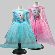 Vestidos de niña verano ropa de niño bebé princesa Anna Elsa vestido Shiny Snow Queen Cosplay traje de fiesta niños ropa de Año Nuevo