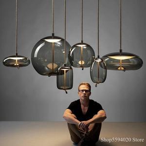 Luces colgantes de nudo de BROKIS escandinavas, lámpara colgante de cristal de estilo nórdico Luminaria Deco, luces colgantes luminarias