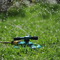 Garden Sprinklers Automatic Watering Grass Lawn 360 Degree 3 Nozzle Circle Rotating Irrigation System Three Arm Garden Pipe Hose