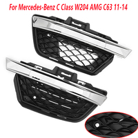 MagicKit 1 Pair Front Bumper Grille Fog Lamp Light Cover For Mercedes-Benz C Class W204 AMG C63 2011-2014