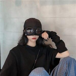 Image 4 - [EAM] 여성 블랙 분할 공동 멋진 어부 모자 새로운 라운드 돔 기질 패션 조수 모든 경기 봄 가을 2020 1H275