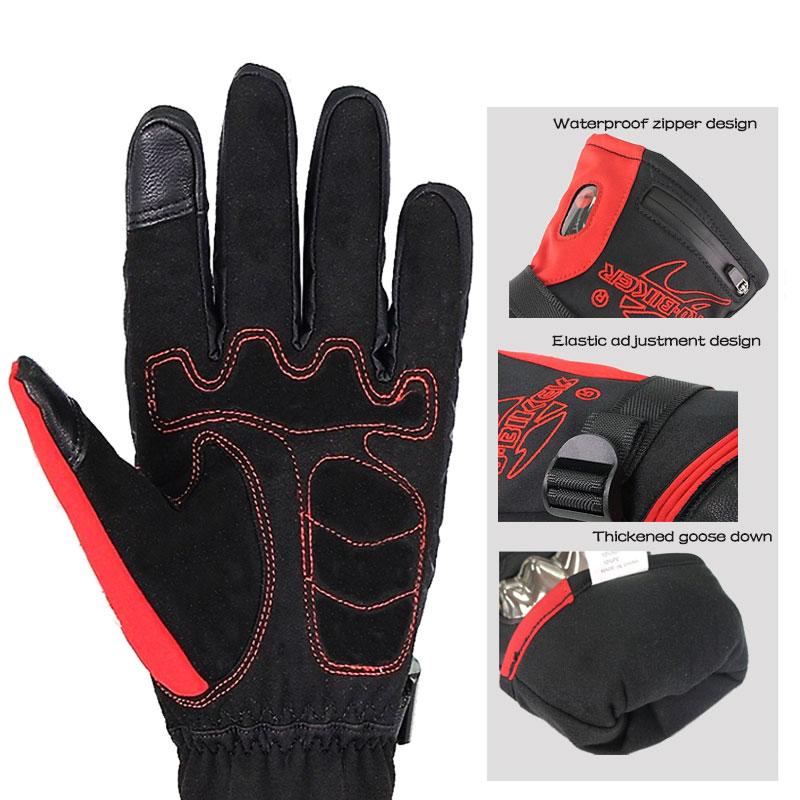 Guantes calefactores gruesos recargables con carcasa protectora de TPU para el invierno, para montar en motocicleta, montar en bicicleta, esquí, Skateboard, mitones calentados - 4
