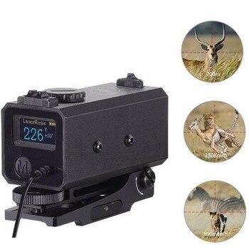 5 En 1 medidor de distancia láser telémetro 700M modo de día de niebla + distancia Horizontal + medidor de velocidad telémetro láser de caza