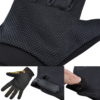 Summer Outdoor Sports Cycling Gloves Men's Non-Slip Silicone Glove Bicycle Windproof Full Finger Gloves For Fishing 3