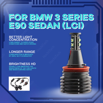Ultra Bright Free Error 3-year Warranty LED Marker h8 h11 LED Angel Eyes Marker 160W For BMW 3 Series E90 Sedan (LCI) 2009-2011 image