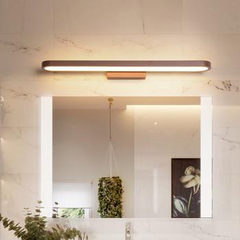 現代の led ミラーライト浴室ライト寝室のベッドサイド 110 V 220 V ブラウン Led 燭台ウォールランプ通路の照明装飾 wandlamp -