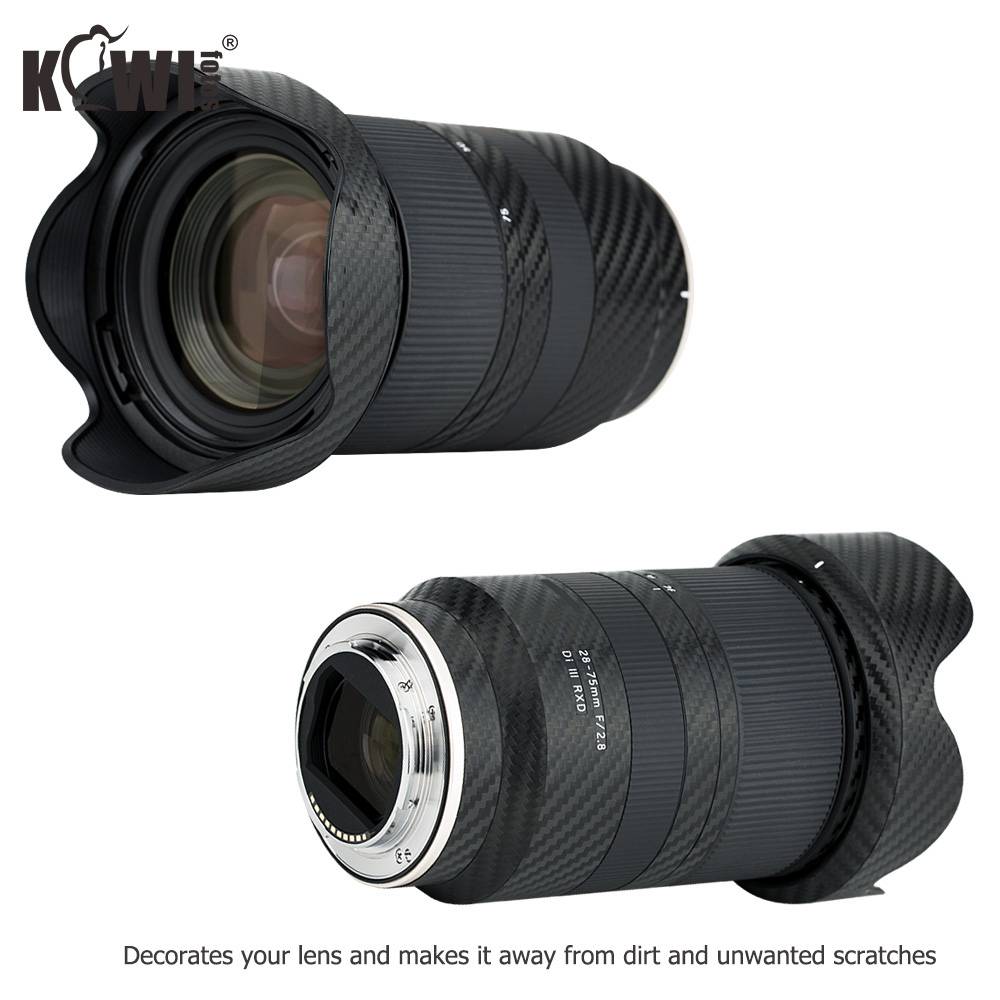 Anti-Scratch Lens and Lens Hood Cover Carbon Fiber Protective Skin Film For Tamron 28-75mm f/2.8 Di III RXD A036 Lens Anti-Slide