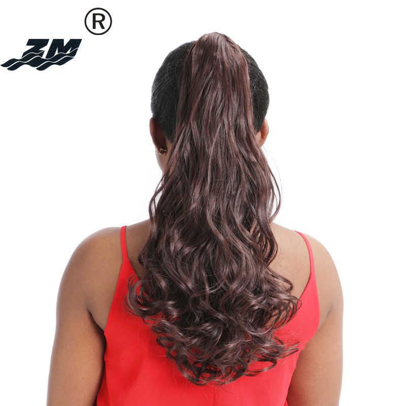 """ZM 24 kolory żaroodporne włosy syntetyczne koński ogon 150g 22 """"55 cm długie grube faliste klamra in/on włosy w koński ogon rozszerzenia"""