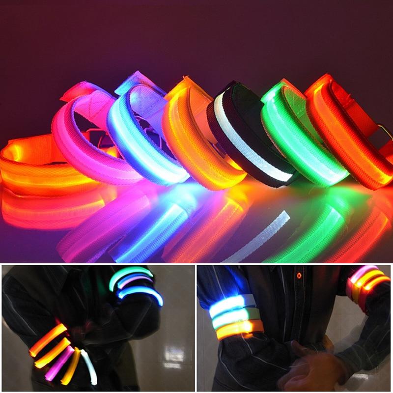 Light Up Glow In The Dark Flashing LED Light Bracelet Disco Party Bike Green