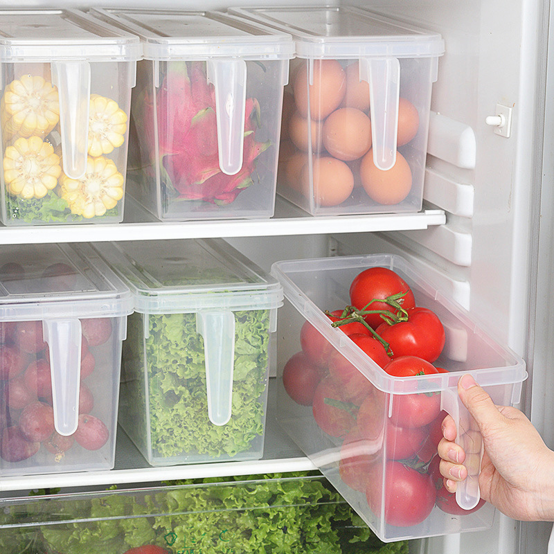 Пластиковый Кухонный Контейнер для хранения пищи и овощей, органайзер, контейнер для хранения в холодильнике, пищевые контейнеры, маленьки...