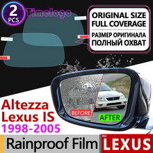 For Lexus IS IS200 IS300 200 300 Toyota Altezza 1998-2005 XE10 Anti Fog Rearview Mirror Rainproof Anti-Fog Films Car Accessories 3 in1 special rear view camera wireless receiver mirror monitor diy parking system for lexus is300 is200 es300 es330 altezza