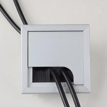 Сплав квадратное отверстие для кабеля крышка 80*80 мм стол ТВ кабинет компьютерный стол провод кабель втулка отверстие крышка выход порт держатель линии
