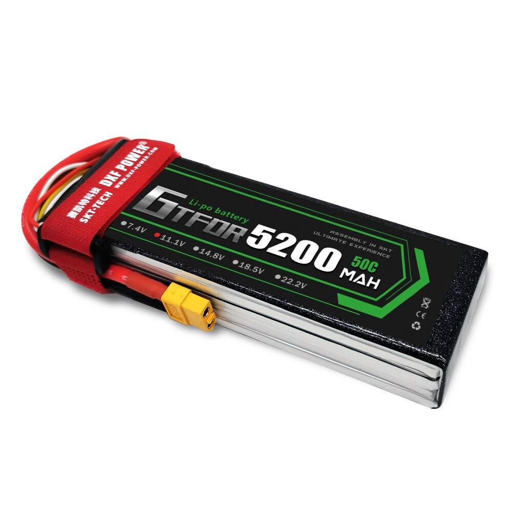 GTFDR 3S 11.1 5200mAh 50C lipo