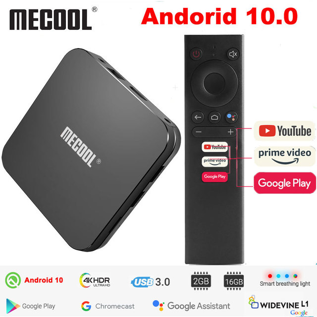 Mecool KM9 Pro Classic Google Certified Amlogic S905X2 Android 10.0 2G 16G 4K HDR Cast Voice Control Android TV Box Prefix