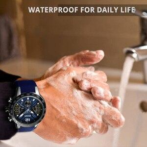Image 4 - MEGIR reloj deportivo de silicona para hombre, cronógrafo de cuarzo militar, marca de lujo, Zegarek Meski Erkek Kol Saati