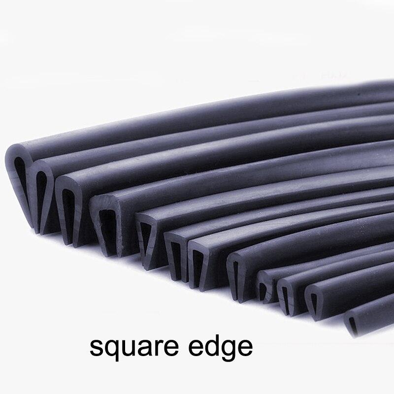 1 Meter Rubber U Sealing Strip Edge Trim For Glass Metal Wood Panel Board Sheet Cabinet