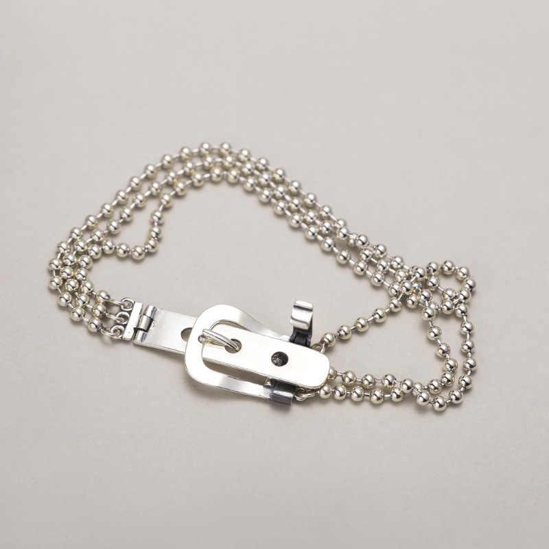 Silvology Riem Gesp Ronde Kraal Multi Layer Armbanden voor Vrouwen 925 Sterling Zilveren Kwaliteit Luxe Armbanden Festival Sieraden