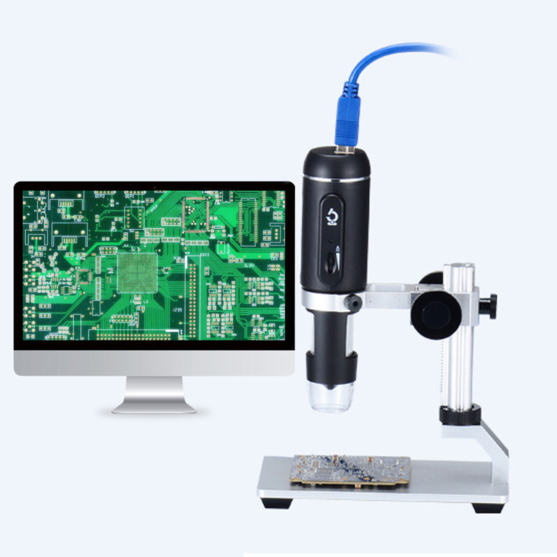 Professional 1000X USB 3.0 Digital Microscope 5MP Zoom HD Camera Electronic Magnifier with Holder For Repair Cell Mobile Phone