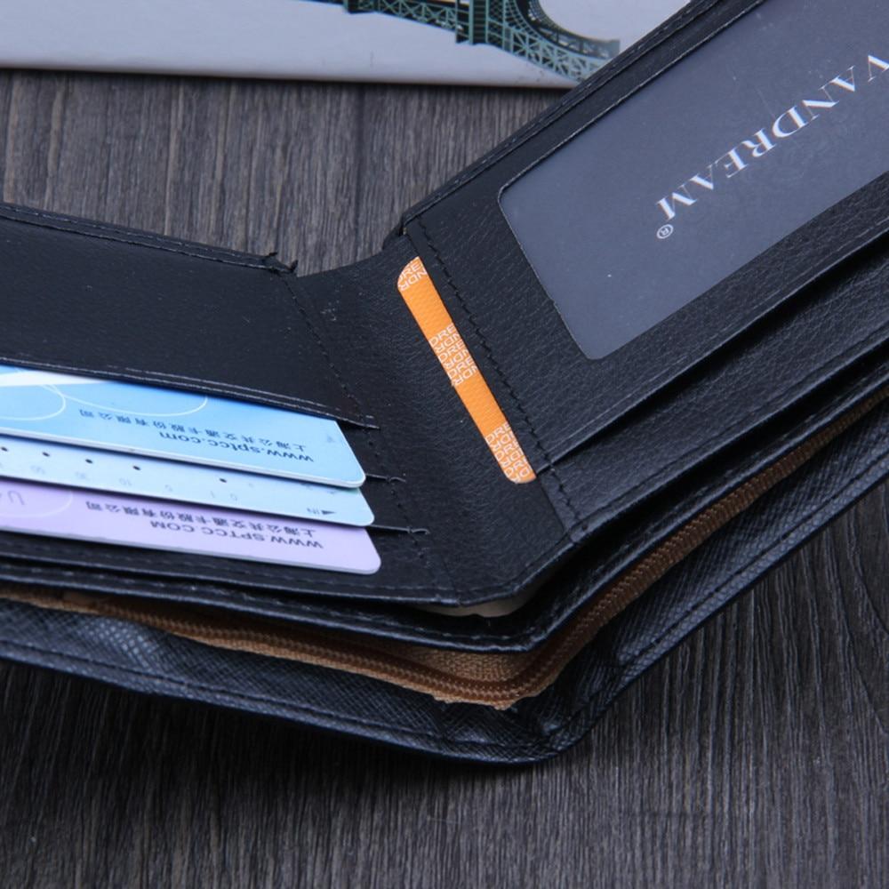 Men Bifold Business Leather Wallet  ID Credit Card Holder Purse men's wallet clutch portfel cuzdan billetera carteira  (11)