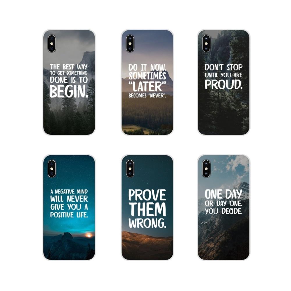 Для Apple iPhone X XR XS 11Pro MAX 4S 5S 5C SE 6S 7 8 Plus ipod 5 6 аксессуары телефон оболочки чехлы мотивационные фразы