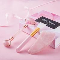 Rose Quartz Face Massage Jade Roller Natural Stone Crystal Slimmer Lift Wrinkle Remover Beauty Care Slimming Lifting Tools 2