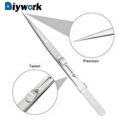 DIYWORK мм 165 мм антистатические для ювелирных электронных компонентов держать плотно регулируемый слайд замок пинцет точность