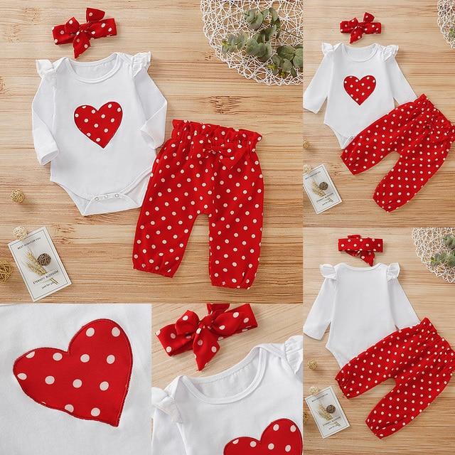 Newborn Baby Girl Polka Dot Set 5