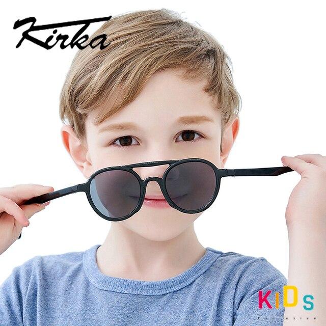 ยืดหยุ่นแว่นตากันแดดเด็กPolarizedเด็กPilotแว่นตาTR90 UV400สำหรับ7 12ปีเด็กหญิงเด็กแว่นตาเด็ก