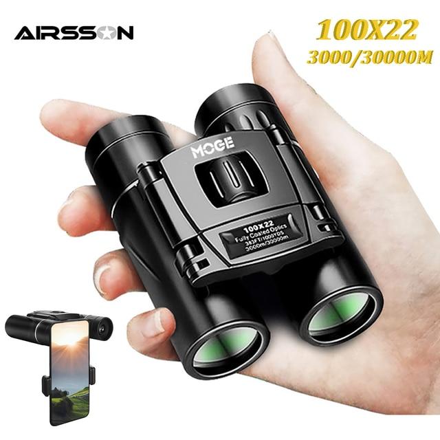 100X22 Professional Binoculars 30000M High Power HD Portable Hunting Optical Telescope BAK4 Night Vision Binocular For Camping 1
