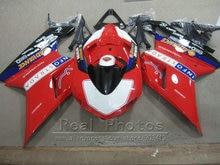Aftermarket body parts fairing kit for Ducati 848 1098 1198 07 08 09 10 11 dark red black fairings 848s 1098s 2007-2011 YY34