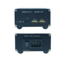 Fuente de alimentación lineal HIFI, 5V, USB dual, regulador de voltaje de bajo ruido de 15VA para audio raspberry CAS XMOS