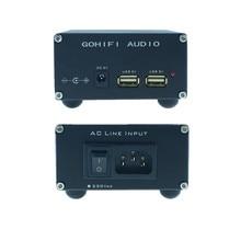 HIFI Linear fonte de Alimentação DC dupla 15VA 5V USB Baixo ruído regulador de tensão para CAS XMOS framboesa áudio