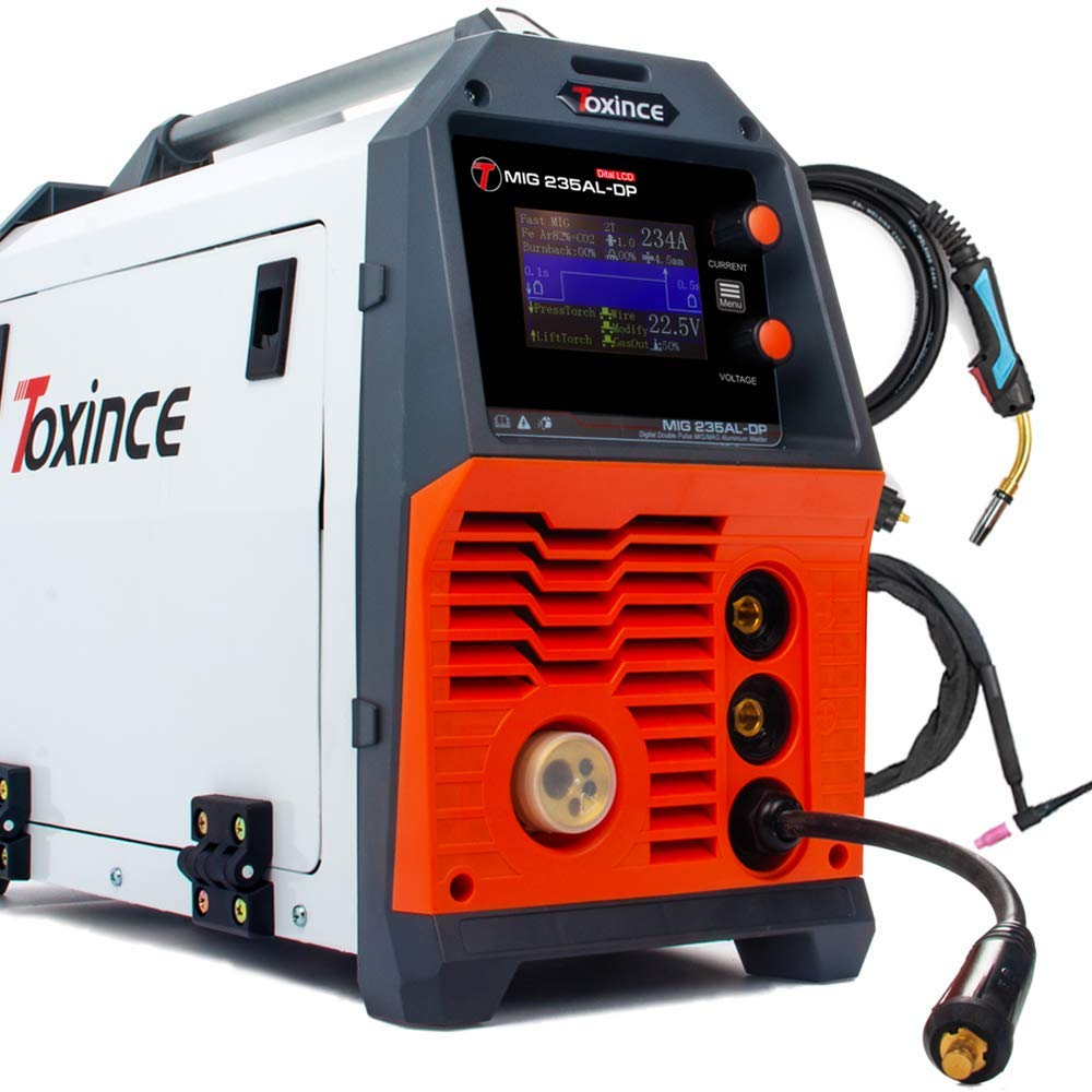 Toxince MIG235AL-DP Digital Double Pulse Aluminum DC Welder MIG//Pulse/Double Pulse/ARC/Lift TIG Welding Machine